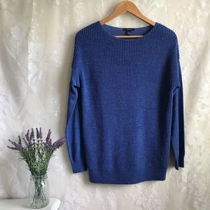 Westbound Knit Sweater Blue Soft Pullover S